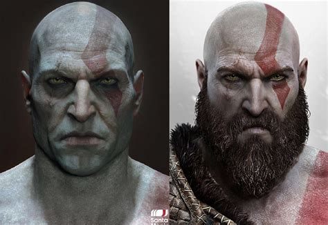 closeup of clean shaven kratos from god of war ps4 will