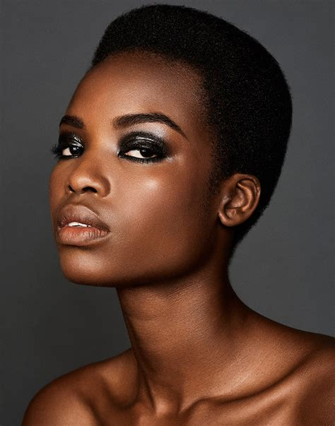 black female models with short hair long weave is no longer the standard for black models