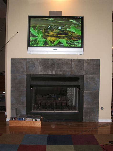 how to mount an lcd tv above a fireplace ehow uk
