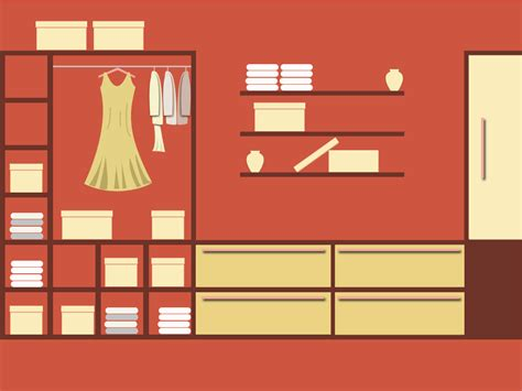 Organize Closet Wardrobe Free Images At Clker Com Vector Clip Art