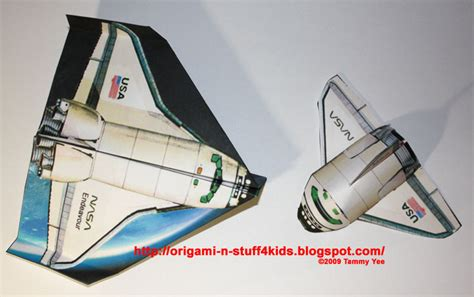 How To Make Paper Space Shuttle - origami shuttle space 171 embroidery origami