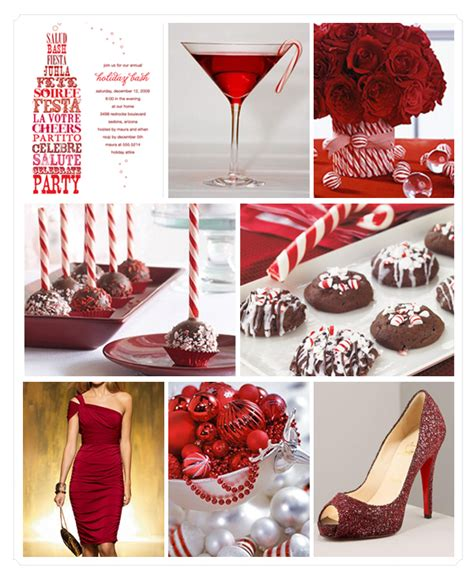 Party Themes With Red | winter wedding or winter theme party