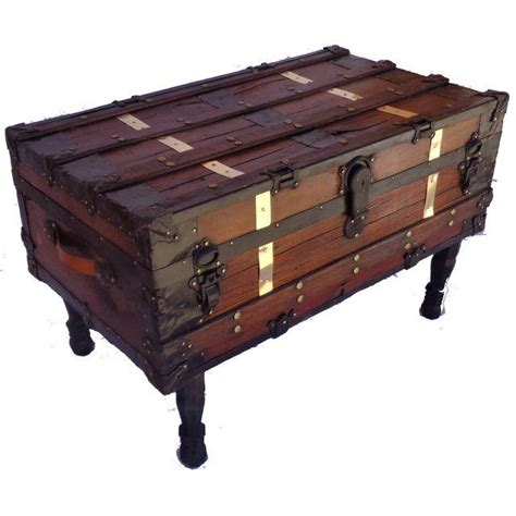 antique steamer trunk coffee table chairish