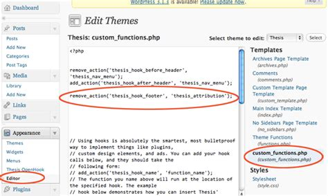edit thesis thesis theme footer edit