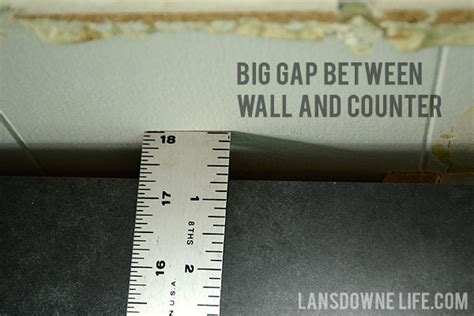 gap between cabinet and wall painted wood molding kitchen backsplash lansdowne life