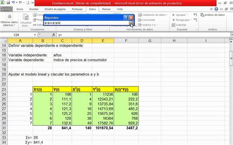 tutorial excel regresion lineal excel 2010 regresi 243 n lineal simple recta de regresi 243 n