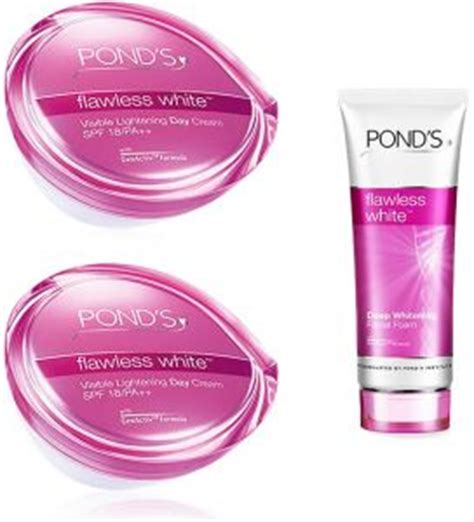 Ponds Visible Lightening Lotion pond s flawless white visible set 2 lightening day with whitening foam price