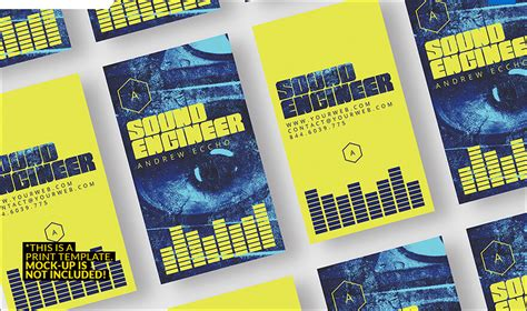 audio engineer business card template 32 dj business card templates free