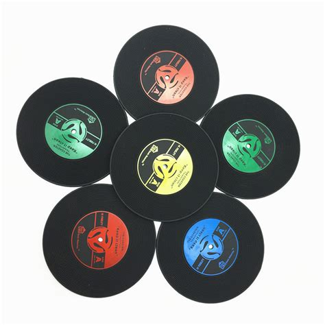Tatakan Gelas Model Retro Vinyl Cd 6 Pcs popular records decorations buy cheap records decorations lots from china records decorations
