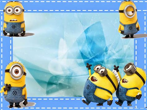 imagenes wallpaper de minions minions en fondo azul mini kit para imprimir gratis
