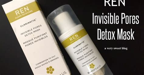 Https Detox Fyi Contact by Ren Invisible Pores Detox Mask Review A Sweet