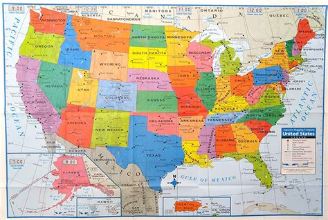 usa map poster superior mapping company united states poster size wall