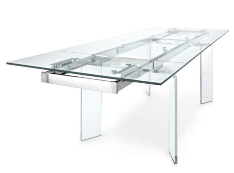 tavolo calligaris tower tower glass table by calligaris