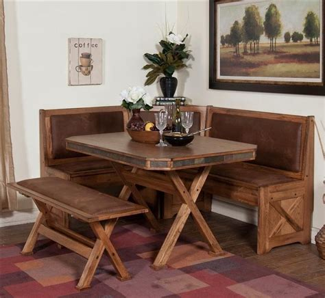nook table with a rustic flair sedona breakfast nook