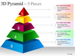 Powerpoint Pyramid Template by 3d Pyramid 5 Pieces Powerpoint Presesntation Templates