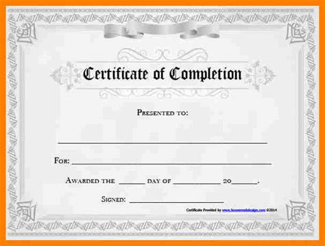 word template certificate of completion certificate of completion templates for word free image