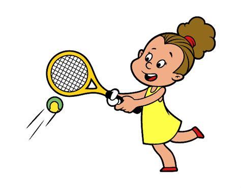 Dibujos Niños Jugando Tenis | dibujo de ni 241 a jugando a tenis pintado por en dibujos net