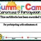 summer c certificate template 1000 images about summer c on water bottle