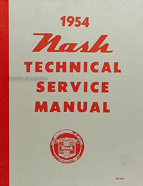 supplement ambassador 1954 nash repair shop manual reprint supplement ambassador