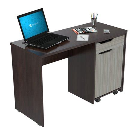 swing out computer desk inval computer desk with swing out storage espresso
