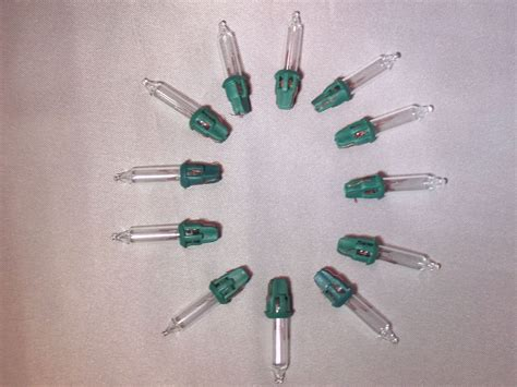 6 volt replacement mini light bulbs 10 clear bulbs green base 6v ebay