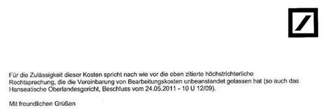 Musterbrief Bank Bearbeitungsgebühren Bz Duisburg Loka Lkreditbearbeitungsgeb 252 Hren Olg