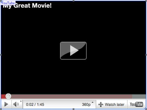 look up film youtube softpress knowledgebase using youtube and vimeo movies