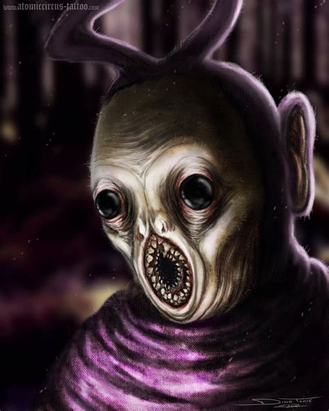 tinky winky horror by atomiccircus on deviantart