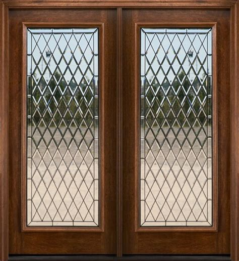 Exterior Double Doors Solid Mahogany Wood Double Doors Wood Doors With Glass Inserts