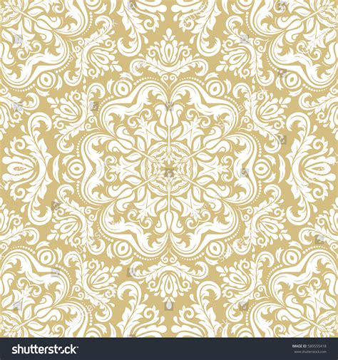 wallpaper classical elements damask vector classic white pattern seamless stock vector