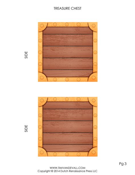 free printable treasure chest template pirate treasure chest template make your own paper