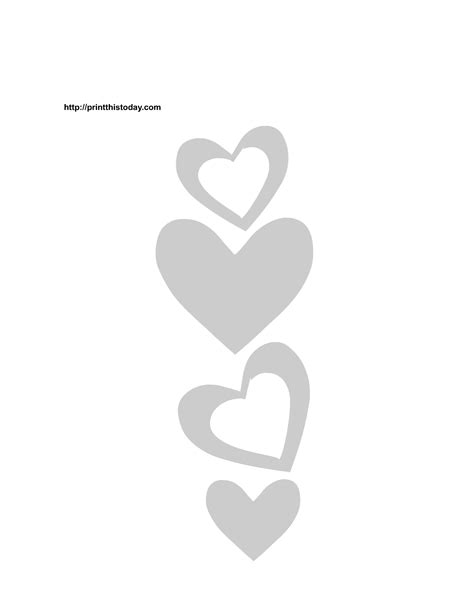free stencil template free printable hearts stencils