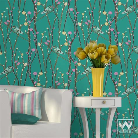 removable wallpaper butterfly garden pattern on removable wallpaper from