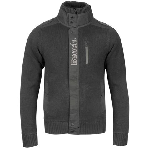 bench fleece jacket bench men s tobias fleece jacket black clothing zavvi com