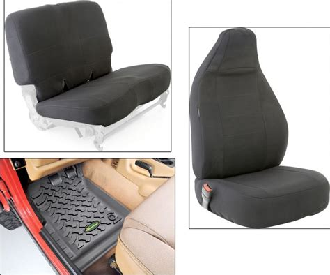 Waterproof Seat Covers For Jeep Wrangler Smittybilt Front Rear G E A R Custom Fit Seat Covers