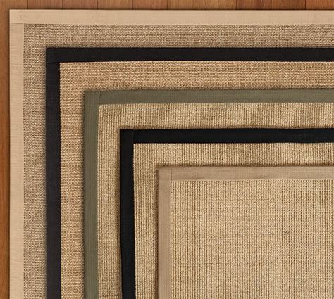 color bound sisal rugs color bound sisal rug swatch pottery barn