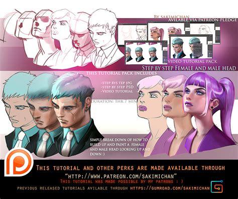 tutorial online c female male look up down tutorial pack promo by