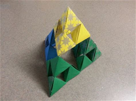 How To Make A Tetrahedron Out Of Paper - the puzzle den summer day 1 5 a sierpinski