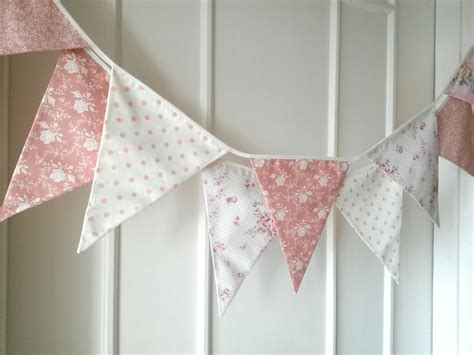 pastel shabby chic fabric banners bunting garland by