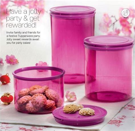 Tupperware Jolly Keeper 1 7 L tupperware jolly keeper set purple color 1 7l 2 7l 3