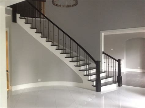 New Staircase New Construction Transitional Style Transitional