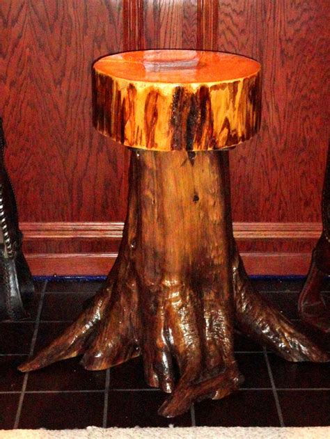 Tree Stump Bar Stools by Rustic Cedar Stump Root Barstool By Outofthisword On Etsy