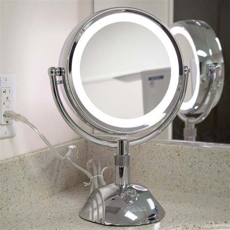 magnified bathroom mirror