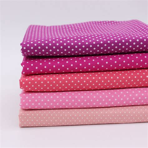Patchwork Cloth - 5pcs polka dot cotton fabric diy cloth sewing tilda