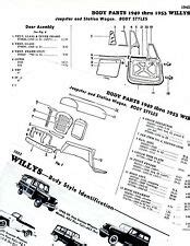 willys jeepster parts ebay