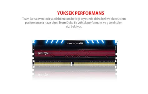 Team 8gb Ddr4 4gbx2 Pc 3000 Gray team delta 8gb 3000 mhz ddr4 k箟rm箟z箟 led dual kit 4gbx2