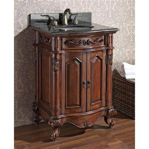 24 Bathroom Vanity With Granite Top Provence 24 Inch Antique Cherry Vanity With Imperial Brown Granite Top And Undermount