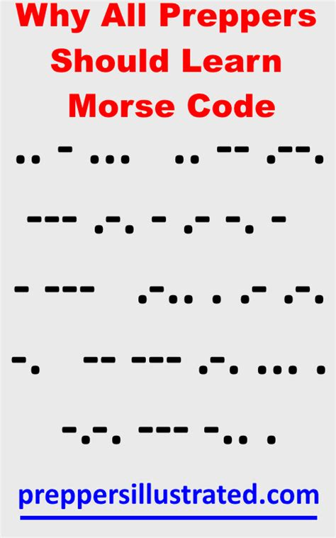 how to easily learn morse code for survival situations