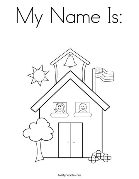 preschool coloring pages about school my name is coloring page twisty noodle