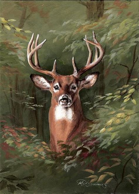 acrylic painting deer sommers end originals michele erickson sommers front